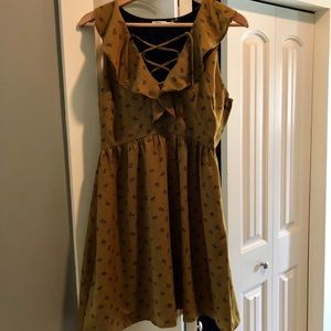 Urban Outfitters Kimchi Blue olive floral dress 6